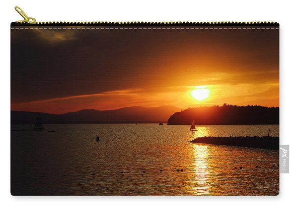 Sunset Over Lake Champlain Carry-all Pouch