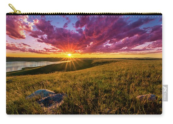 Sunset Over Lake Oahe Carry-all Pouch