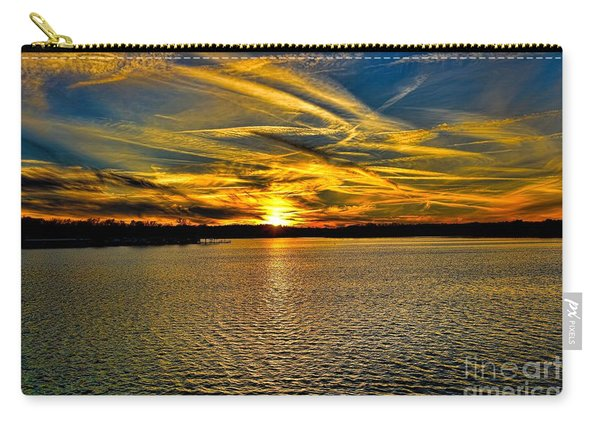 Sunset Over Lake Palestine Carry-all Pouch