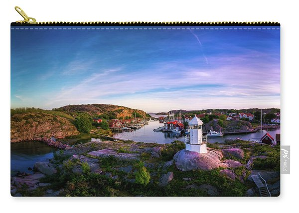 Sunset Over Old Fishing Port - Aerial Photography Carry-all Pouch