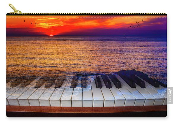 Sunset Over Piano Keys Carry-all Pouch