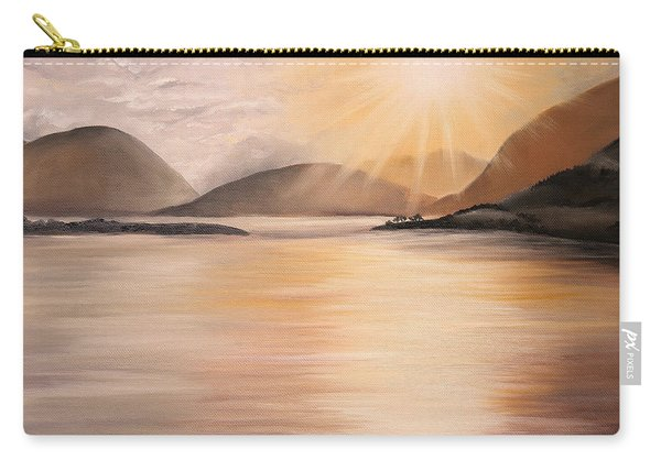 Sunset Over Scottish Loch Carry-all Pouch