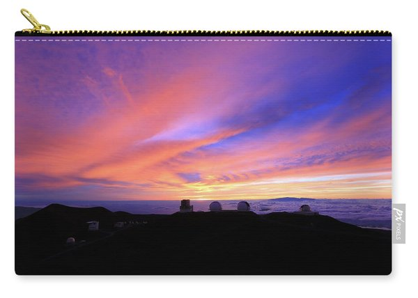 Sunset Over The Clouds Carry-all Pouch
