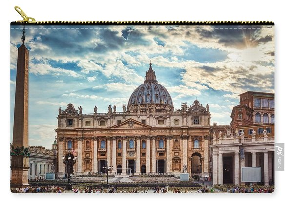 Sunset Over The Papal Basilica Of Saint Peter Carry-all Pouch