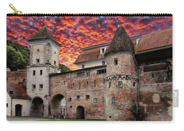Sunset Over The Sandauer Tor  Carry-all Pouch