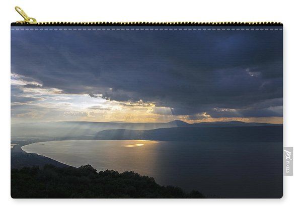Sunset Over The Sea Of Galilee Carry-all Pouch