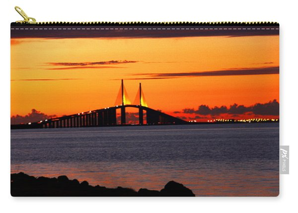 Sunset Over The Skyway Bridge Carry-all Pouch