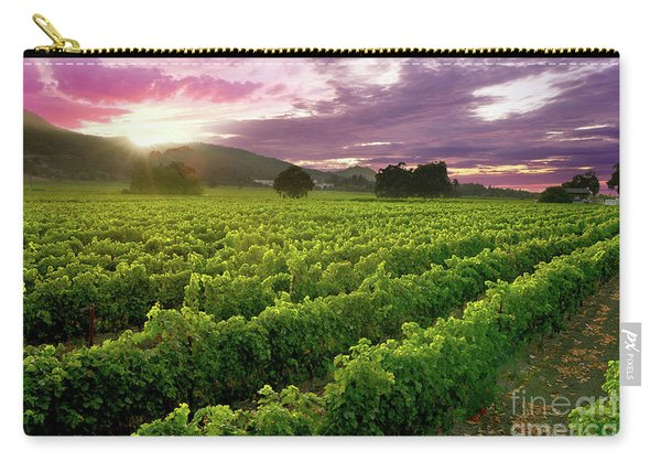 Sunset Over The Vineyard Carry-all Pouch