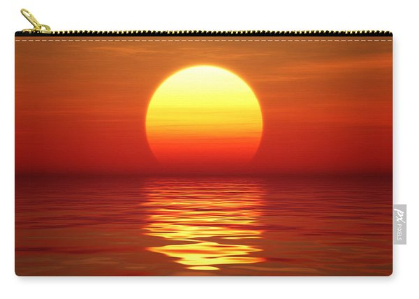 Sunset Over Tranqual Water Carry-all Pouch