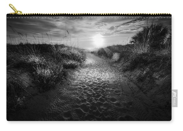 Sunset Path - Bw Carry-all Pouch