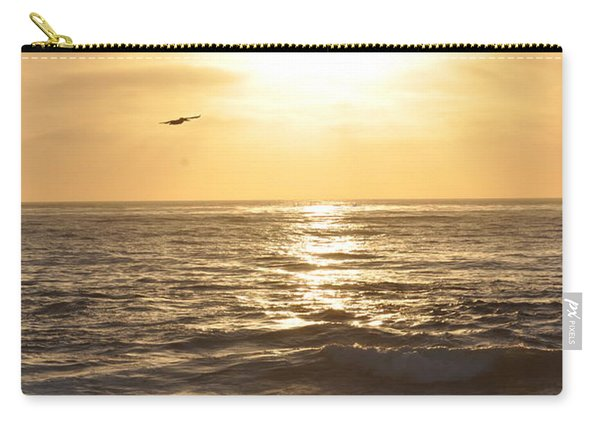 Sunset Pelican Silhouette Carry-all Pouch