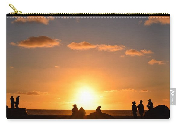 Sunset People In Imperial Beach Carry-all Pouch