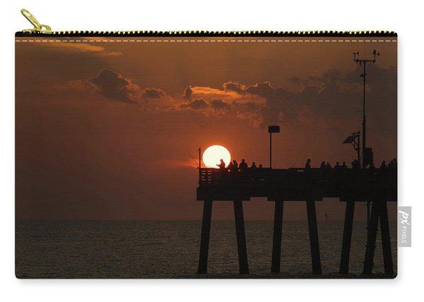Sunset Pier 2 Venice Florida Carry-all Pouch