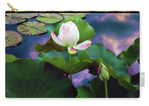 Sunset Pond Lotus Carry-all Pouch