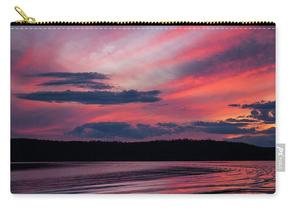 Sunset Red Lake Carry-all Pouch
