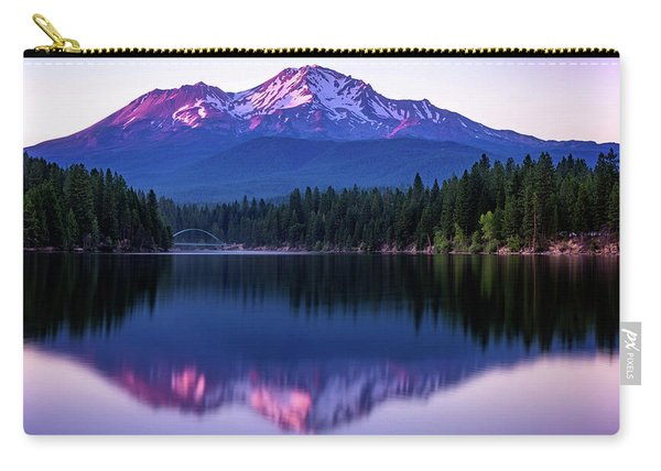Sunset Reflection On Lake Siskiyou Of Mount Shasta Carry-all Pouch