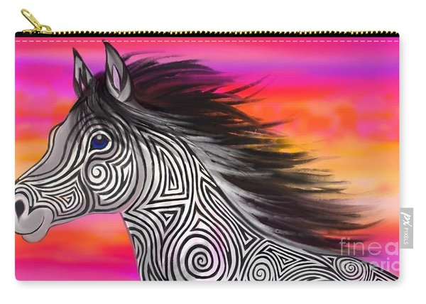 Sunset Ride Tribal Horse Carry-all Pouch