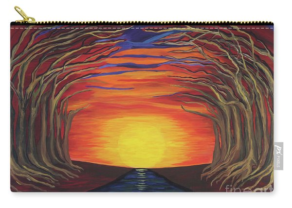 Treetop Sunset River Sail Carry-all Pouch