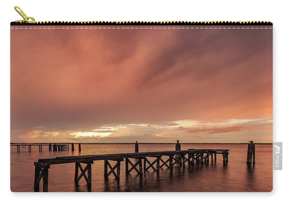 Sunset Thru Storm Clouds Carry-all Pouch