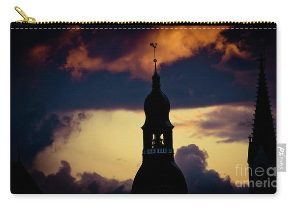 Sunset View In Old Town Riga Carry-all Pouch