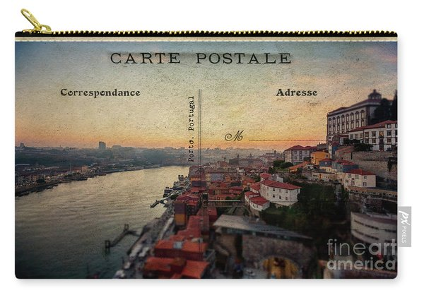 sunset view of the Douro river and old part of  Porto, Portugal Carry-all Pouch