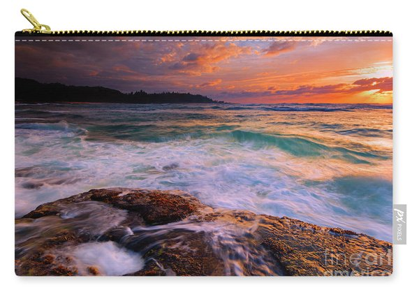 Sunset Wave Curl Carry-all Pouch