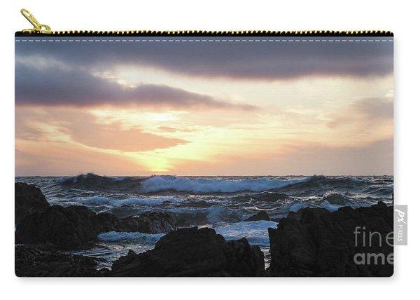 Sunset Waves, Asilomar Beach, Pacific Grove, California #30431 Carry-all Pouch