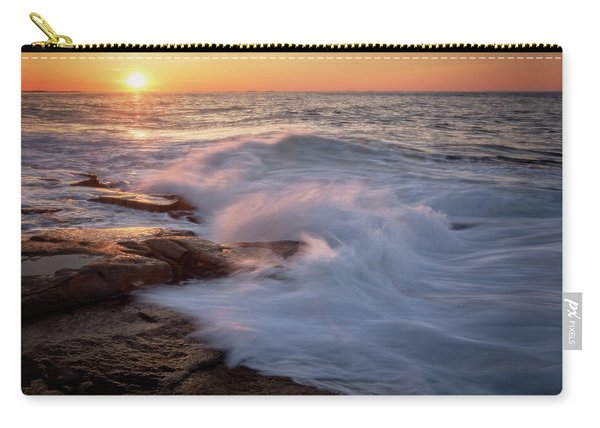 Sunset Waves Rockport Ma. Carry-all Pouch