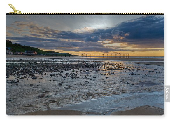 Sunset With Saltburn Pier Carry-all Pouch
