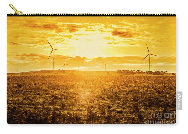 Sunsets And Golden Turbines Carry-all Pouch