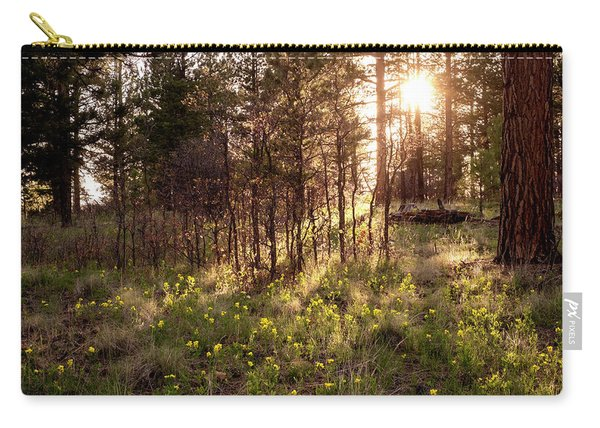 Carry-all Pouch featuring the photograph Sunshine And Lupine by Mary Lee Dereske