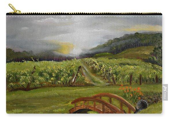 Sunshine Bridge At The Cartecay Vineyard - Ellijay Ga - Vintner's Choice Carry-all Pouch