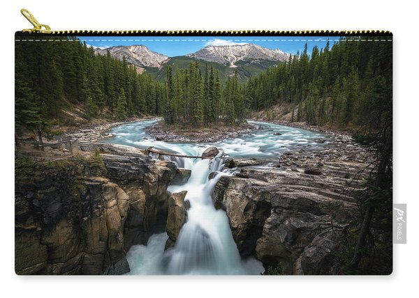 Sunwapta Falls In Jasper National Park Carry-all Pouch