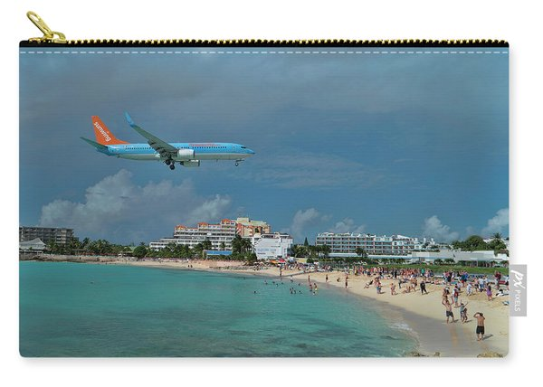 Sunwing Airline At Sxm Airport Carry-all Pouch