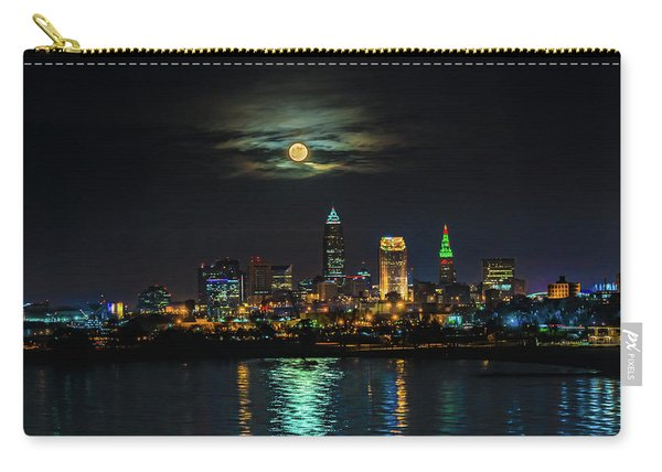 Super Full Moon Over Cleveland Carry-all Pouch