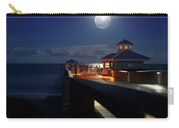 Super Moon At Juno Pier Carry-all Pouch
