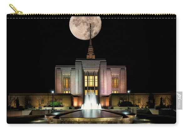 Super Moon At Ogden Lds Temple Carry-all Pouch
