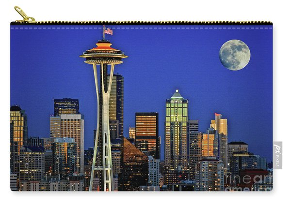 Super Moon Over Seattle Carry-all Pouch