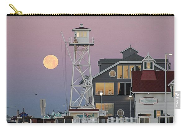 Super Wolf Moon At The Watch Tower Carry-all Pouch