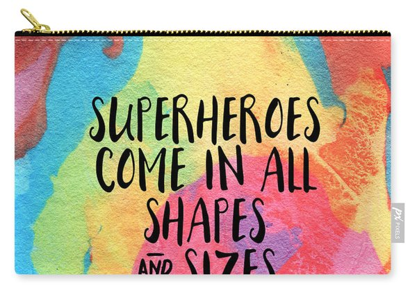 Superheroes- Inspirational Art By Linda Woods Carry-all Pouch
