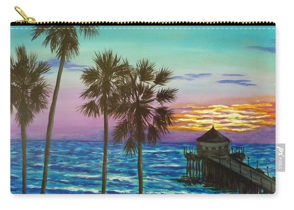 Surf City Sunset Carry-all Pouch