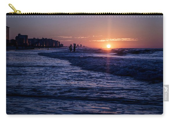 Surf Fishing At Sunrise Carry-all Pouch