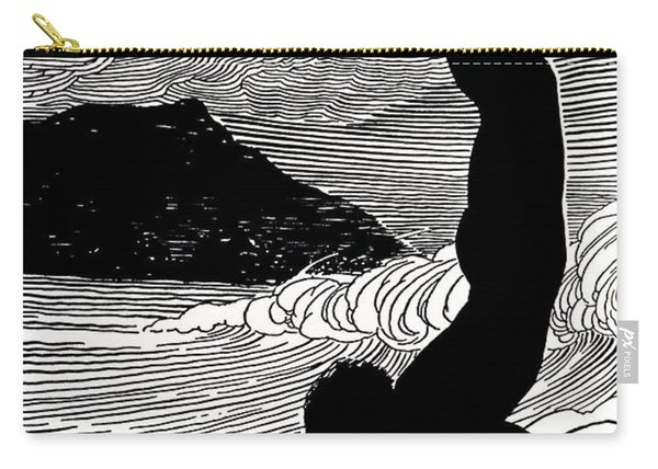 Surfer And Waikiki Carry-all Pouch