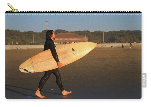 Surfer At Ocean Beach Carry-all Pouch