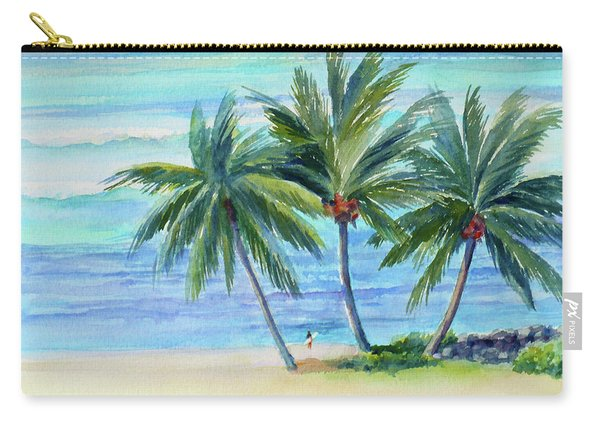 Surfer At Waikiki Carry-all Pouch