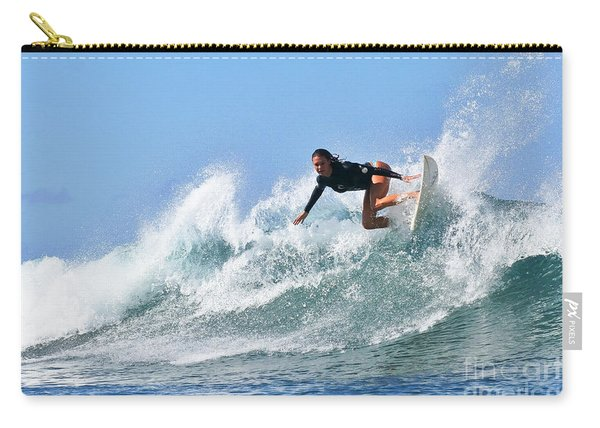 Surfer Girl At Bowls 5 Carry-all Pouch