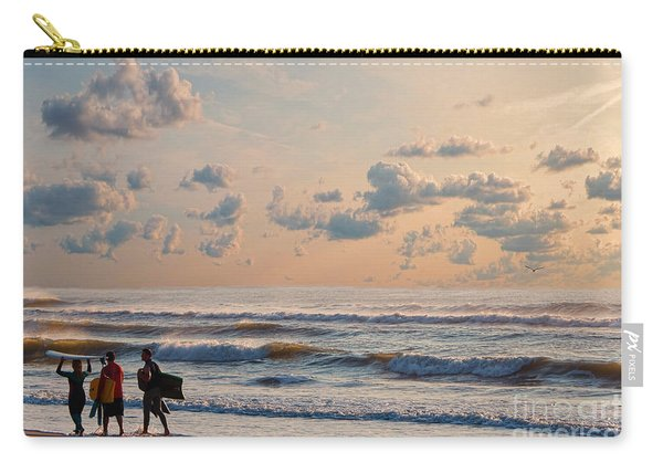 Surfing At Sunrise On The Jersey Shore Carry-all Pouch