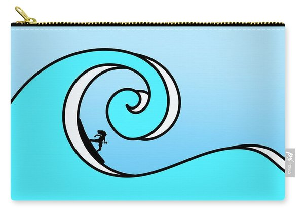 Surfing The Wave Carry-all Pouch