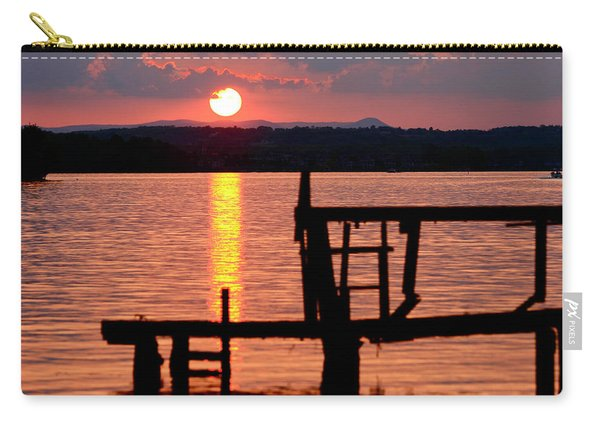 Surreal Smith Mountain Lake Dockside Sunset 2 Carry-all Pouch