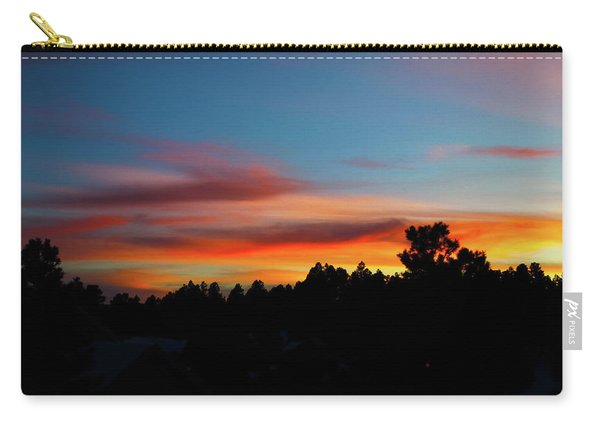 Carry-all Pouch featuring the photograph Surreal Sunset by Jason Coward